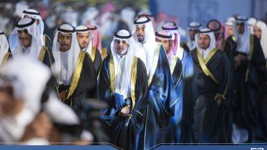 Photo of الأمير فيصل بن مشعل يتقدم مسيرة الخريجين في حفل تخريج الدفعة 16 بالجامعة